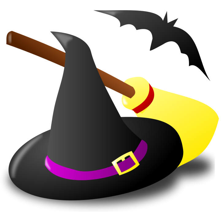 730x688 Halloween Witch Hat Broom And Bat Png Clipartu200b Gallery