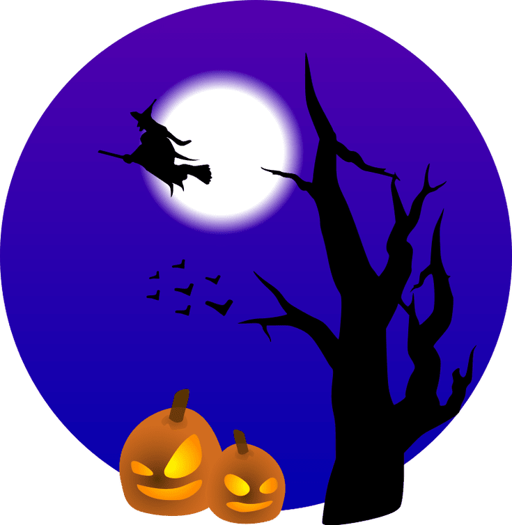 735x754 1,511 Creepy, Spooky, And Fun Free Halloween Clip Art Images