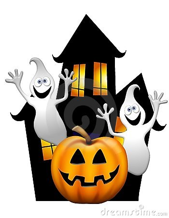 350x450 Haunted House Clipart Free Halloween Vector Illustration