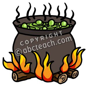 300x300 Witch Clipart Bubbling Cauldron