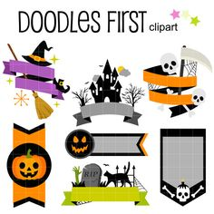 236x236 Free Halloween Cute Witches Clip Art Set Daily Free Art Sets