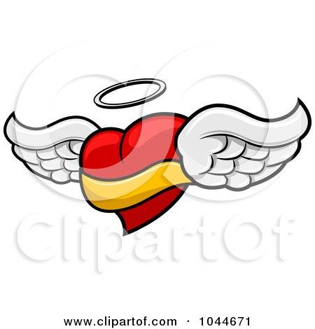 450x470 Royalty Free (Rf) Angel Heart Clipart, Illustrations, Vector