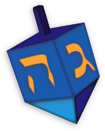 340x423 Hanukkah Dreidel Clip Art