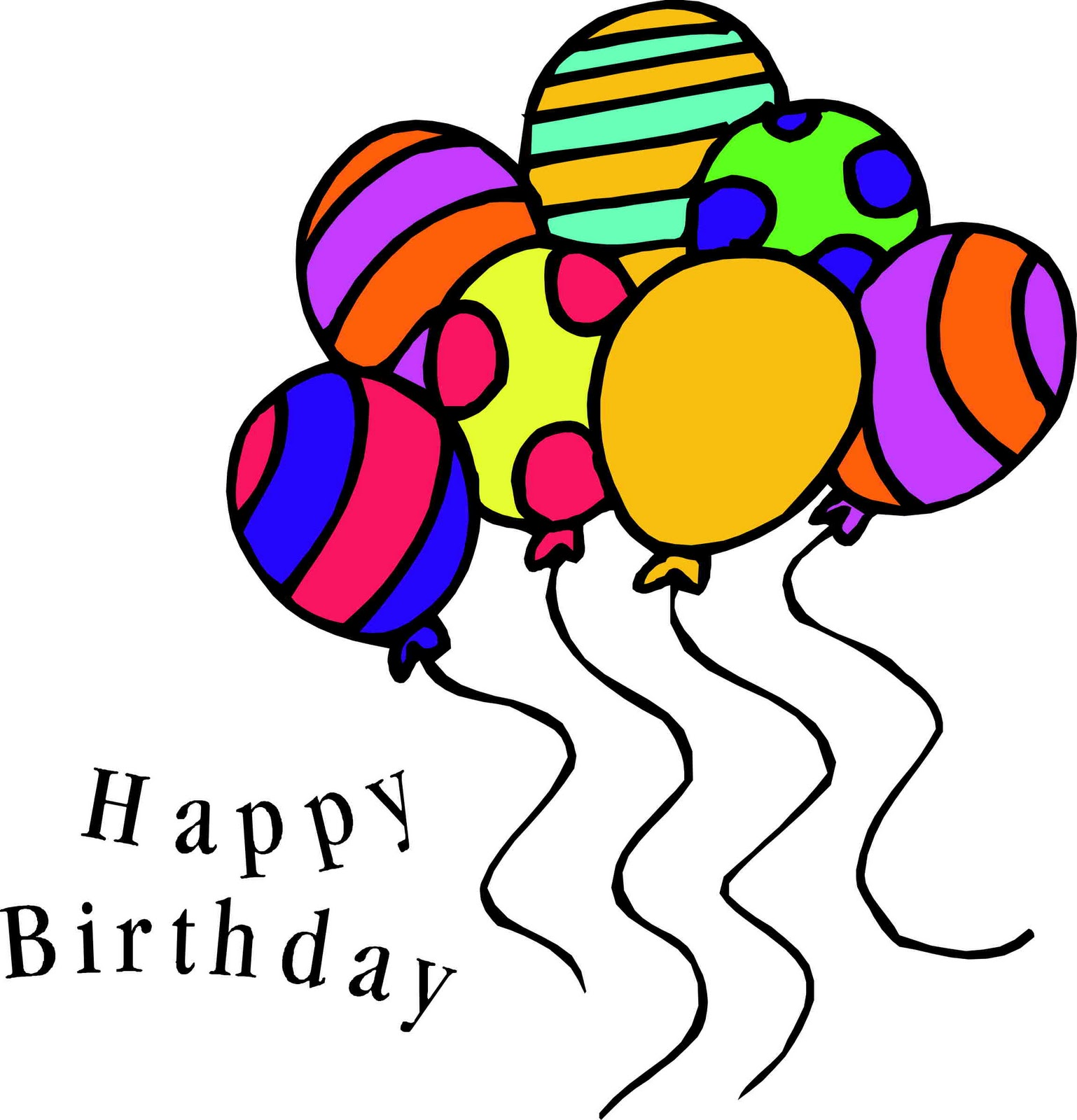 1538x1600 Happy Birthday Clip Art Black And White Images Free Download