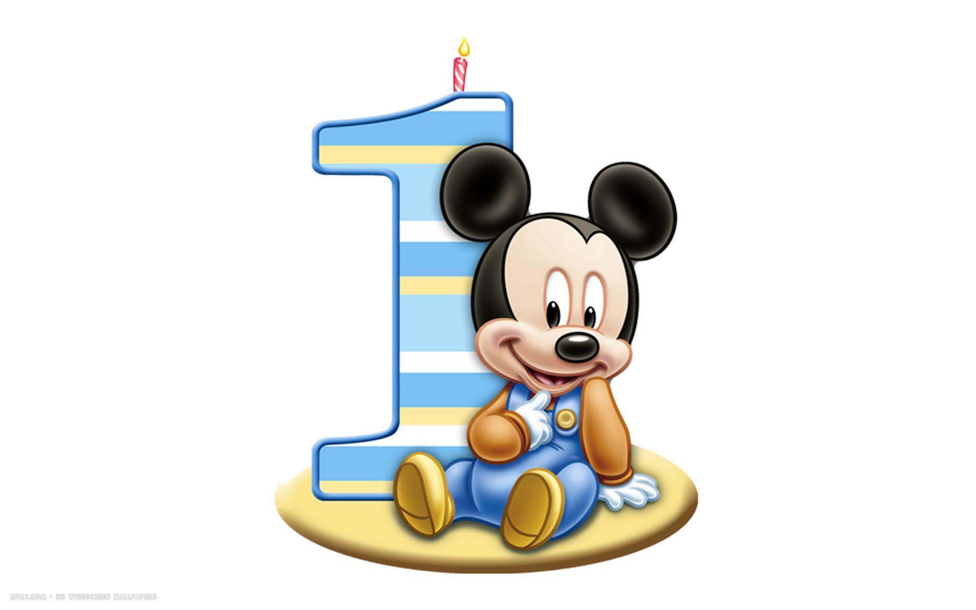 1920x1200 Baby Mickey 1st Birthday Clipart