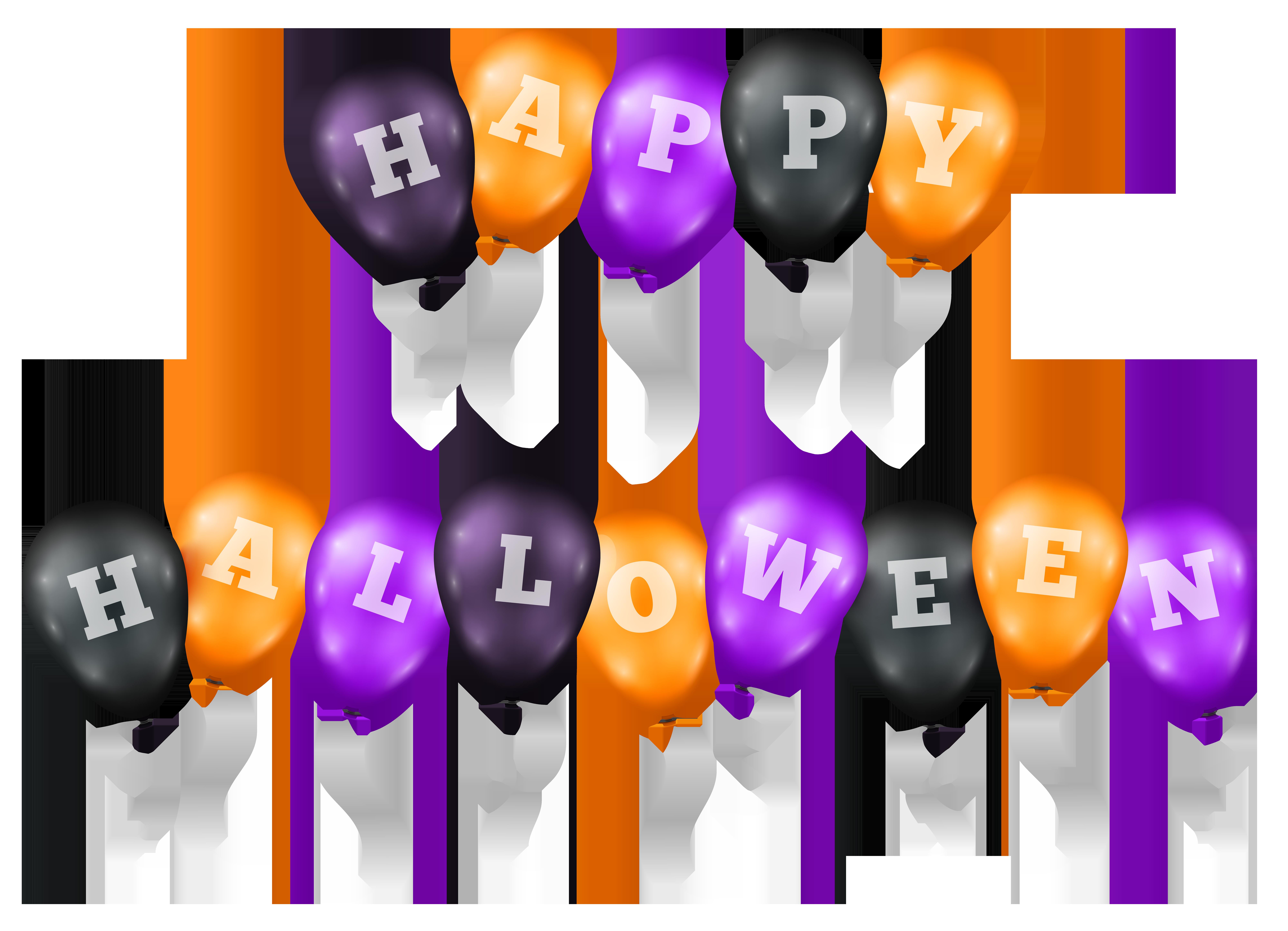8000x5781 Happy Halloween Balloons Transparent Png Clip Art Imageu200b Gallery