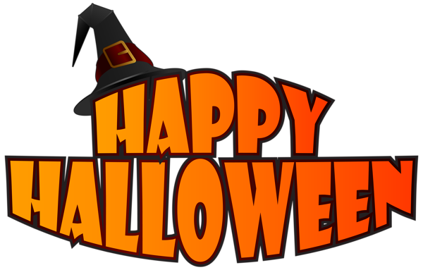 600x383 Happy Halloween With Witch Hat Png Clipart Image Clip Art