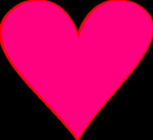 300x276 Pink Heart Clip Art