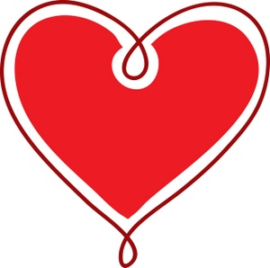 300x298 Clip Art Heart Clipart
