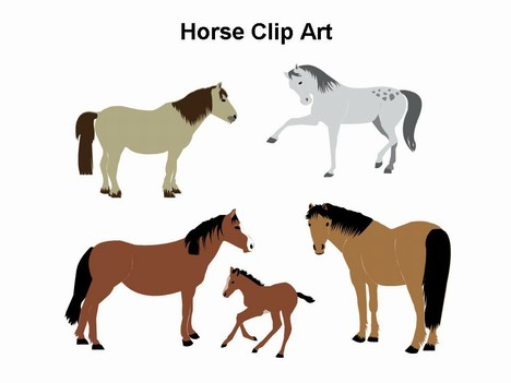 468x351 Horse Free Clip Art Horse Clip Art Template Powerpoint 1