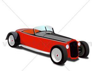 300x233 Free Vector Vintage Car Hot Rod Free Vectors Ui Download