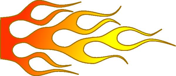600x260 Hot Rod Flames Racing Flame D Clip Art