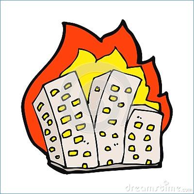 400x400 Burning House Clipart