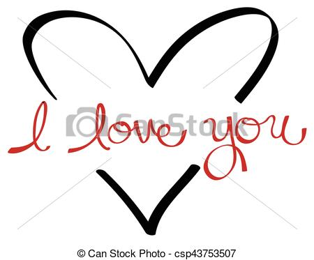 450x373 I Love You Vector Clipart