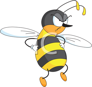 350x330 Angry Bee Clipart