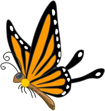340x359 Moving Butterfly For Powerpoint Insect Cliparts Free Clip Art