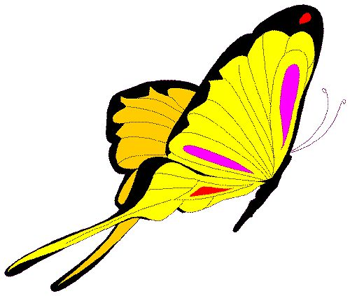500x423 Moving Clipart Butterfly Pencil And In Color Clip Art
