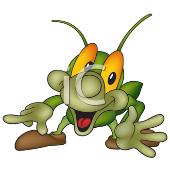 350x350 Flea Cartoon Clip Art Royalty Free Cricket Clip Art, Insect