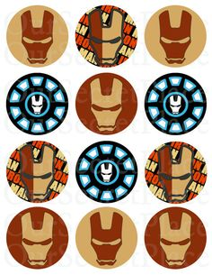 236x305 Free Printable Avengers Iron Man Cupcake Toppers Comicssuper