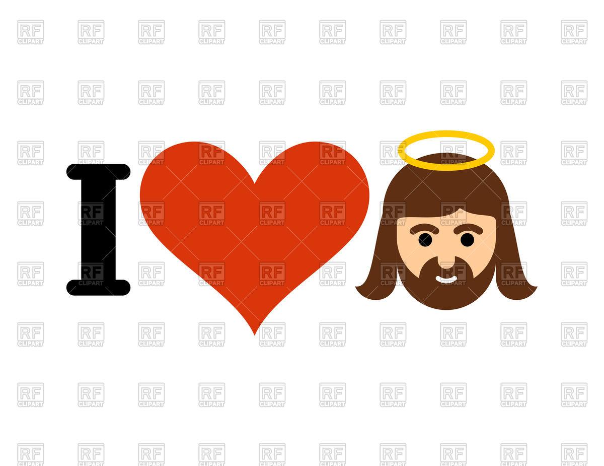 1200x925 I Love Jesus Christ Text Royalty Free Vector Clip Art Image