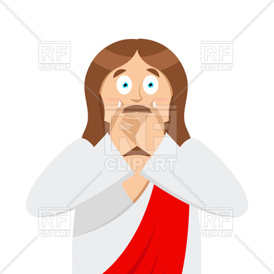 400x400 Omg Jesus Emotion. Facepalm. Royalty Free Vector Clip Art Image