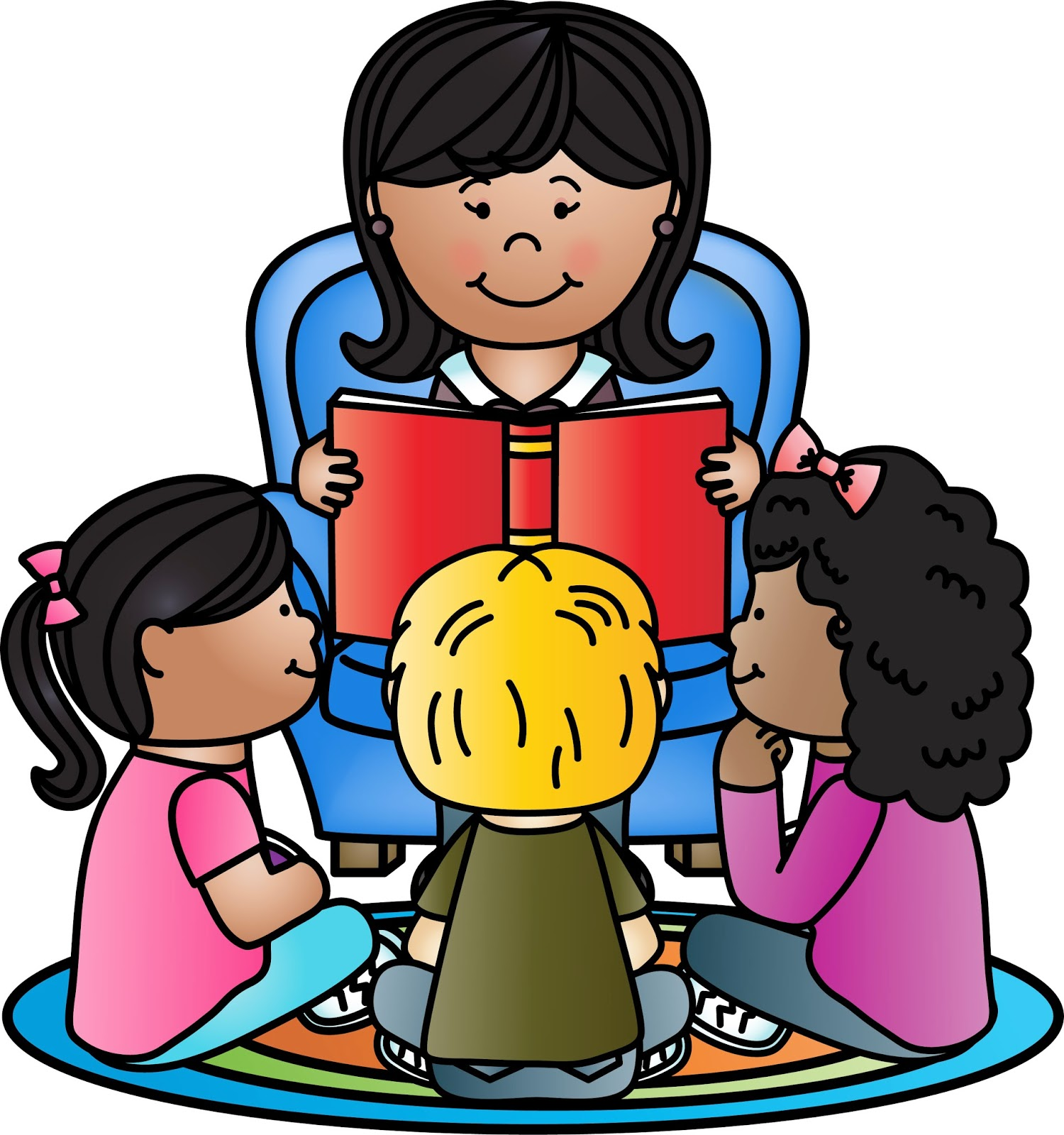 1500x1600 Kids Reading Clipart