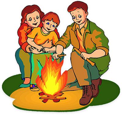 400x378 Camping Kids Summer Camp S Clip Art 2