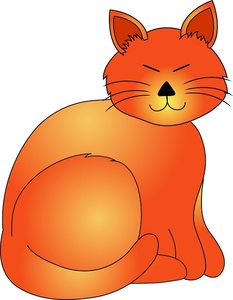 233x300 Ginger Cat Clipart Tabby Free Kitten Pencil And In Color