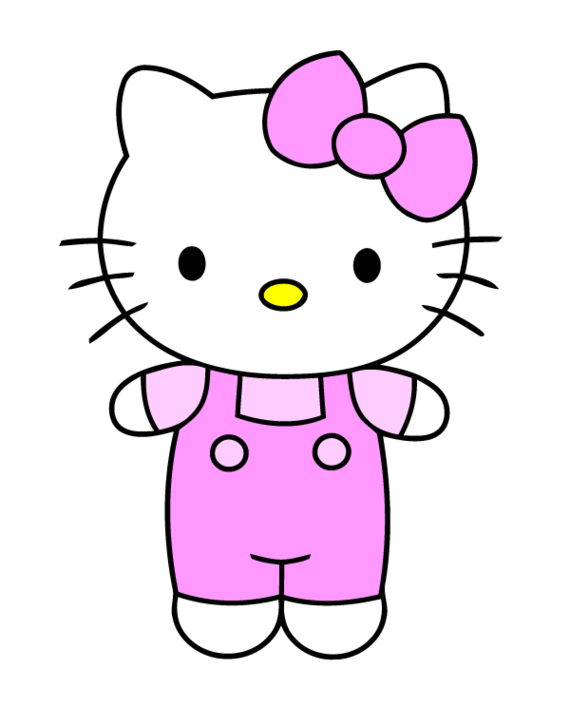 570x707 Hello Kitty Clip Art Clipart Free To Use Resource 3