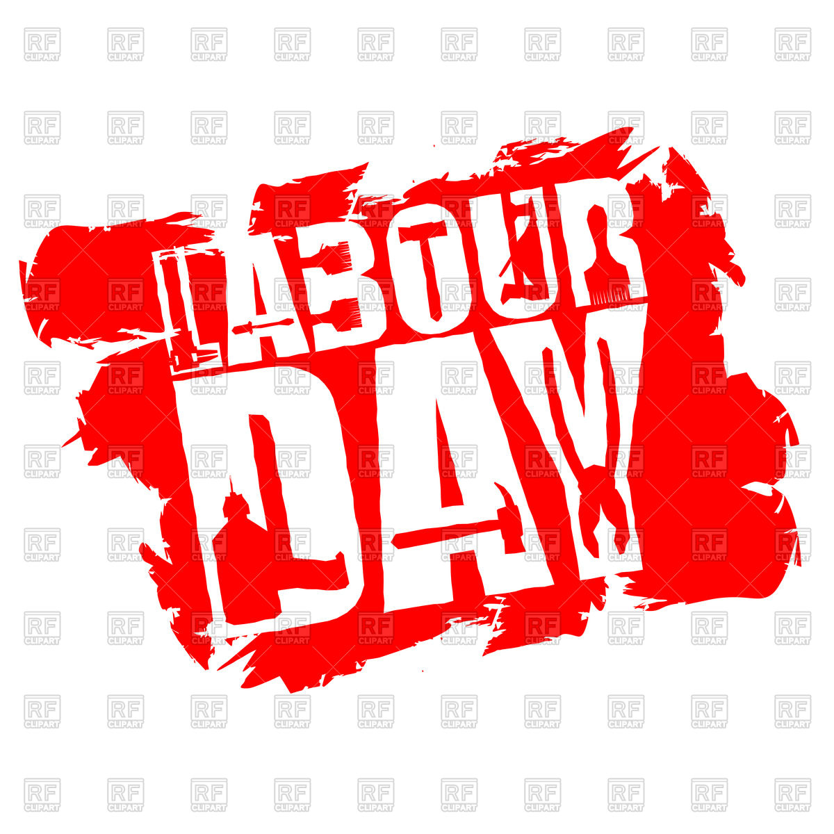 1200x1200 Labor Day Poster In Grunge Style
