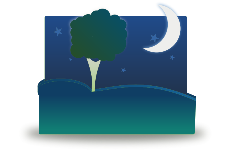 800x532 Free Clipart Landscape By Night Kingcole