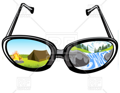 400x311 Reflection Of The Landscape Of The Nature In Glass Spectacles