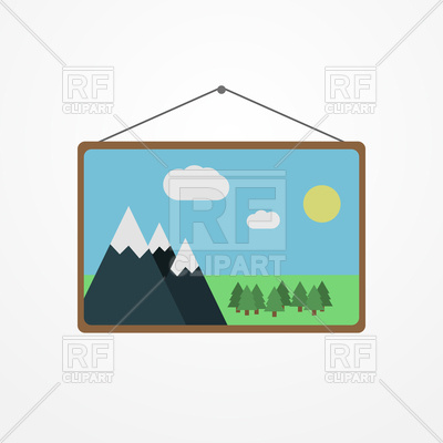 400x400 Wall Picture With Mountains Landscape, Nature Free Download Vector