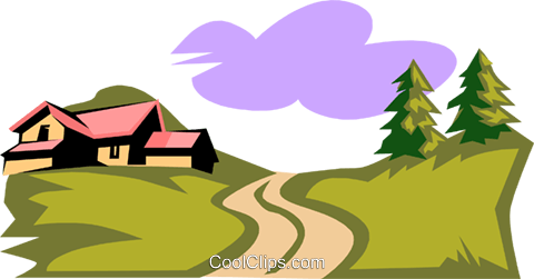 480x251 Landscapecountry Setting Royalty Free Vector Clip Art