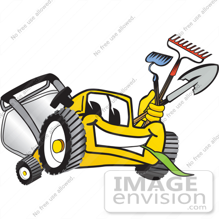 450x450 Lawn Mower Clipart Free Clip Art Graphic Of A Yellow Lawn Mower