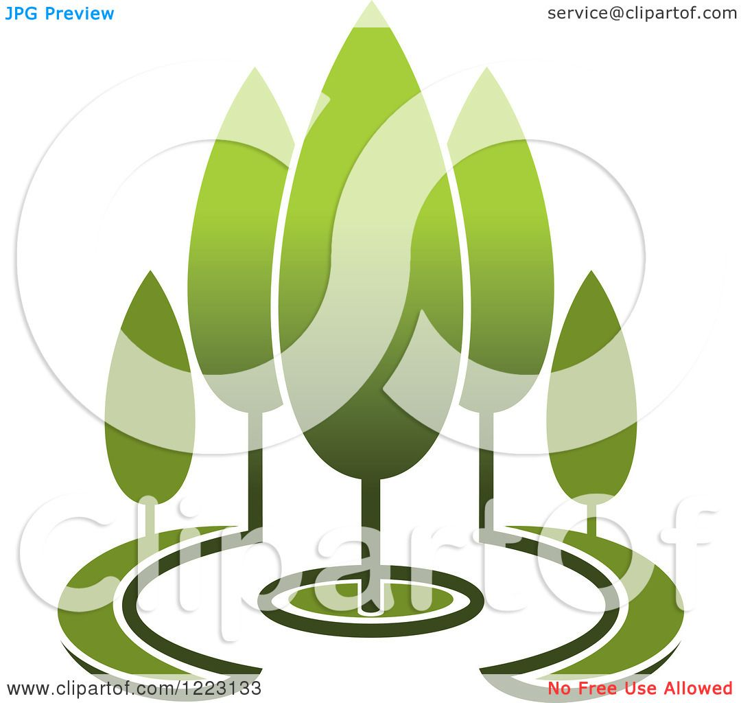 1080x1024 Clipart Of A Landscape With Green Trees 9