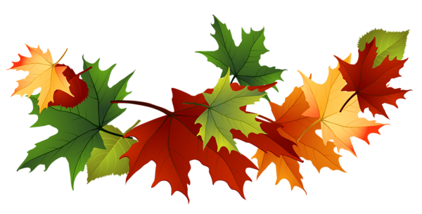 600x304 Free Fall Leaf Clip Art Fall Transparent Leaves Music Clipart
