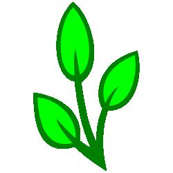 250x250 Filigree Green Three Leaf Clip Art Free Borders And Clip Art