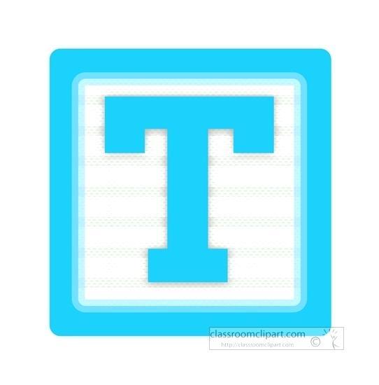 542x550 Letter T Clip Art Alphabet Block Letter T Alphabet Block Letter T