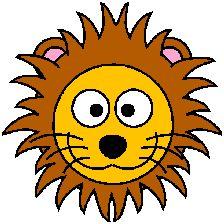224x224 Cartoon Golden Lion Clip Art