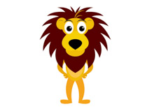 210x153 A Cartoon Picture Of A Lion Group