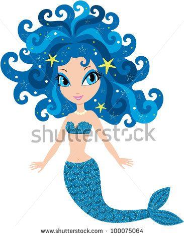 366x470 Mermaid Cartoon. Vector