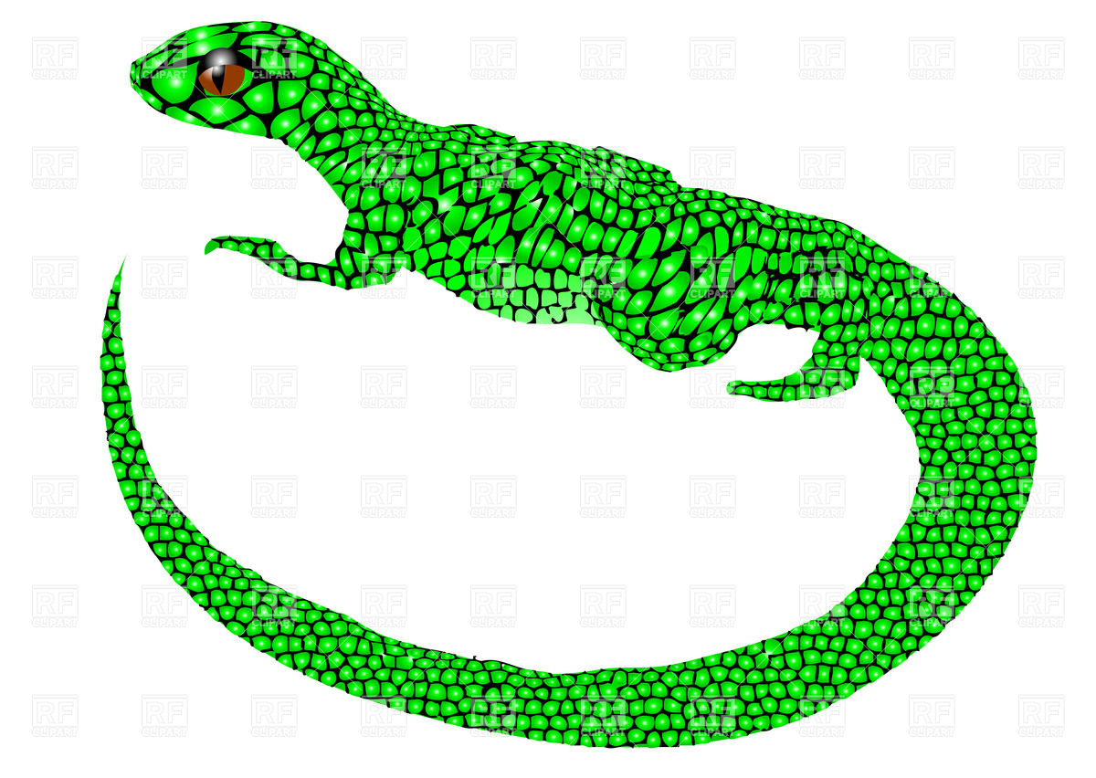 1200x852 Abstract Green Lizard Royalty Free Vector Clip Art Image