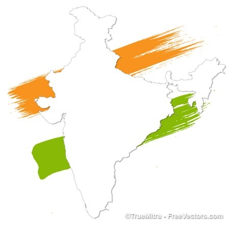 455x441 India On A Map India Map Clip Art Free Vector India Map 1000