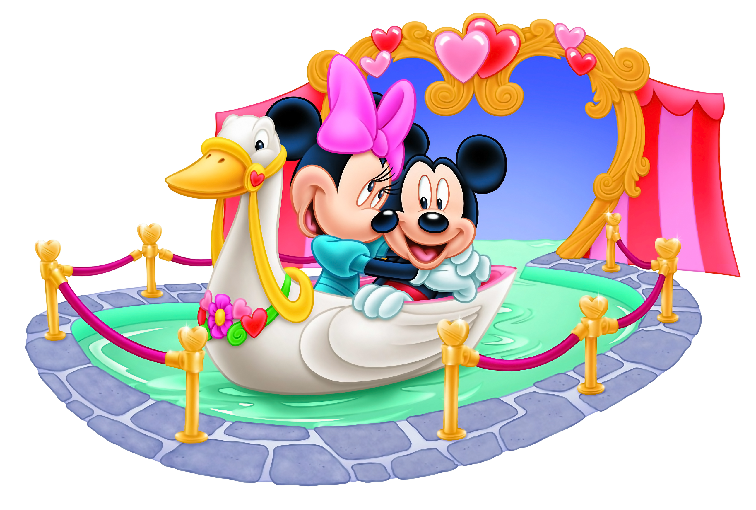2582x1741 Mickey And Minnie Mouse Tunnel Of Love Png Clipart Image