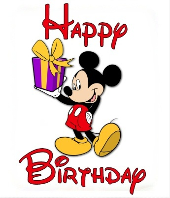 345x401 Lovely Mickey Mouse Birthday Clip Art Clipart Panda Free Images