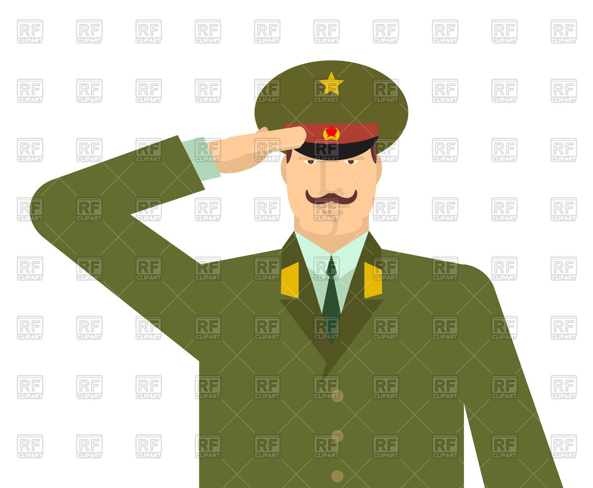 1200x988 Russian Military Officer Salute Royalty Free Vector Clip Art Image