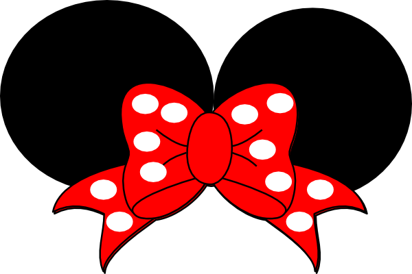 600x400 Red Ribbon Minnie Mouse Clip Art At Pic