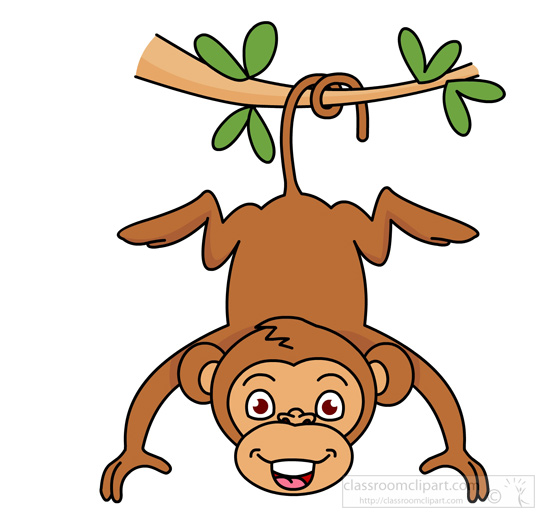 550x523 Collection Of Monkey Hanging Clipart High Quality, Free