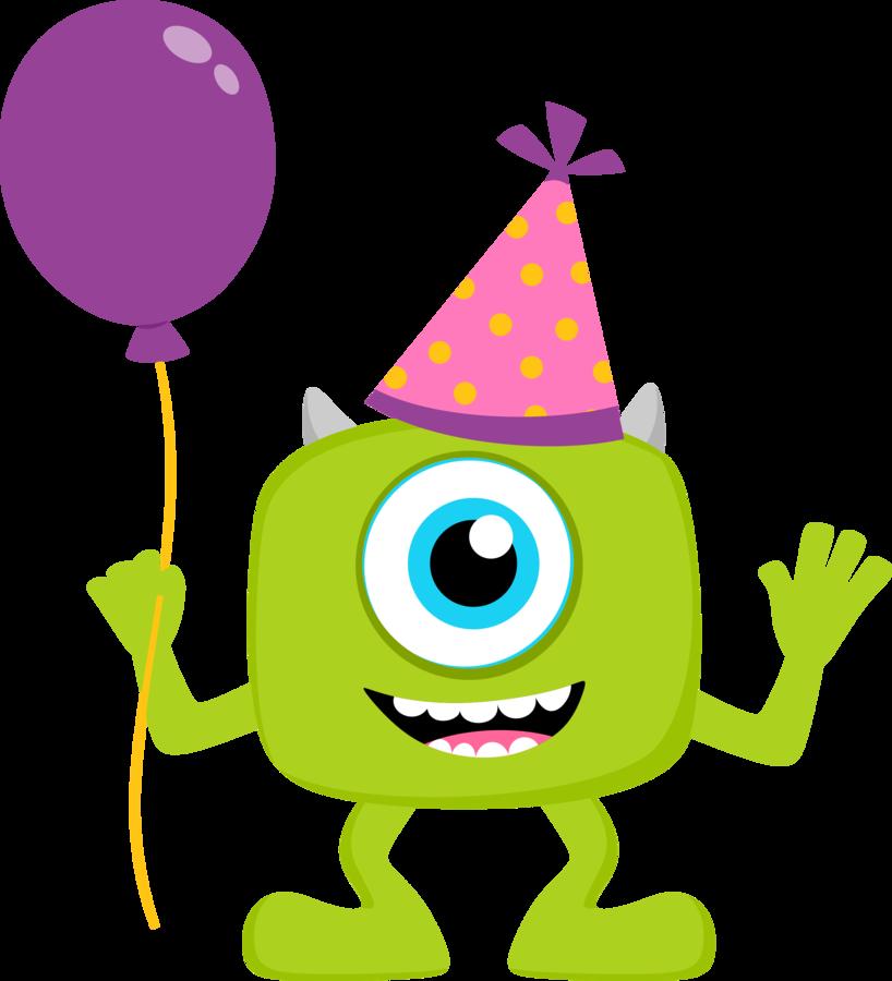 818x900 Monsters Inc Clip Art Free Clipart De Monster Party Bebs